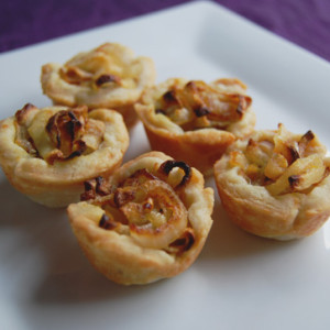 Caramelised onion feta tart