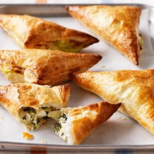 Cheese and spinach